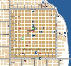 mapa turístico de posadas